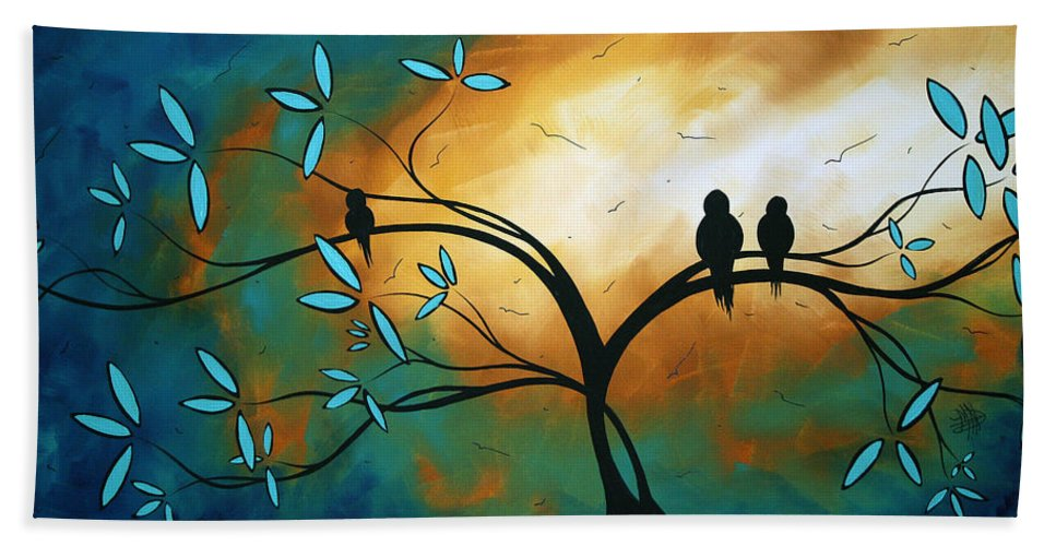 Art Hand Towel featuring the painting Longing By Madart by Megan Duncanson