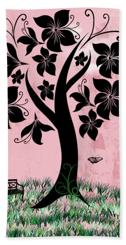 Rhonda Barrett Bath Sheet featuring the digital art Longing For Spring by Rhonda Barrett