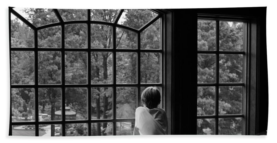 Window Bath Sheet featuring the photograph Longing by Stacy Abbott