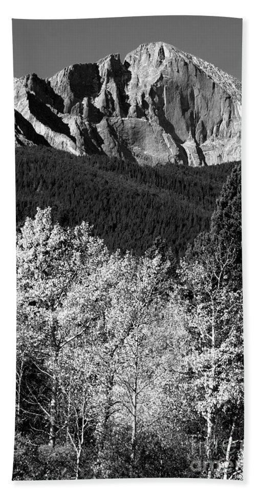 Longs Peak Bath Sheet featuring the photograph Longs Peak 14256 Ft by James BO Insogna