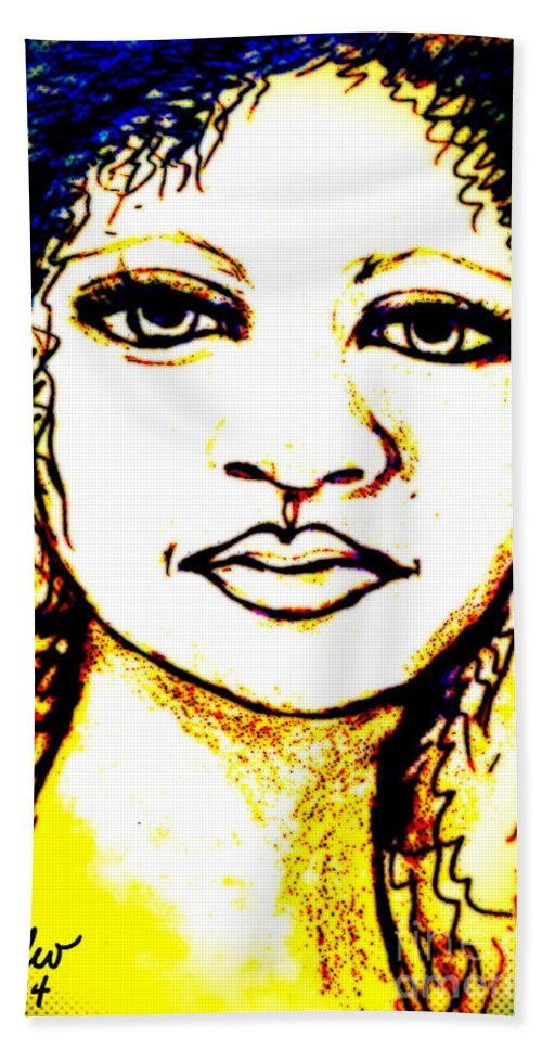 Woman Hand Towel featuring the digital art Look In The Mirror - Make A Change by Angela L Walker