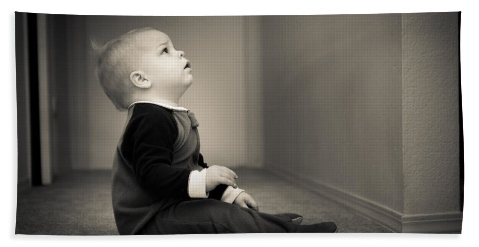 Child Bath Sheet featuring the photograph Look Of Innocence by Bill Pevlor