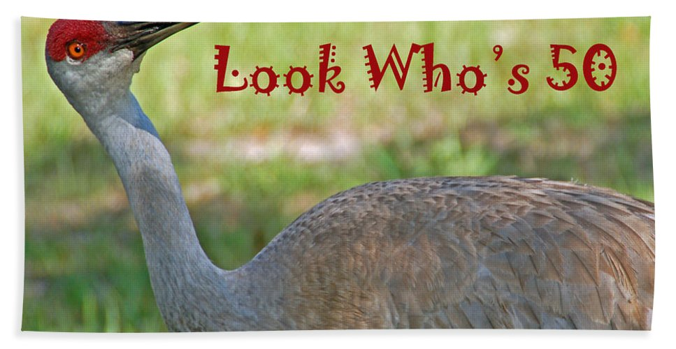 Crane Hand Towel featuring the photograph Look Who's 50 by Aimee L Maher ALM GALLERY