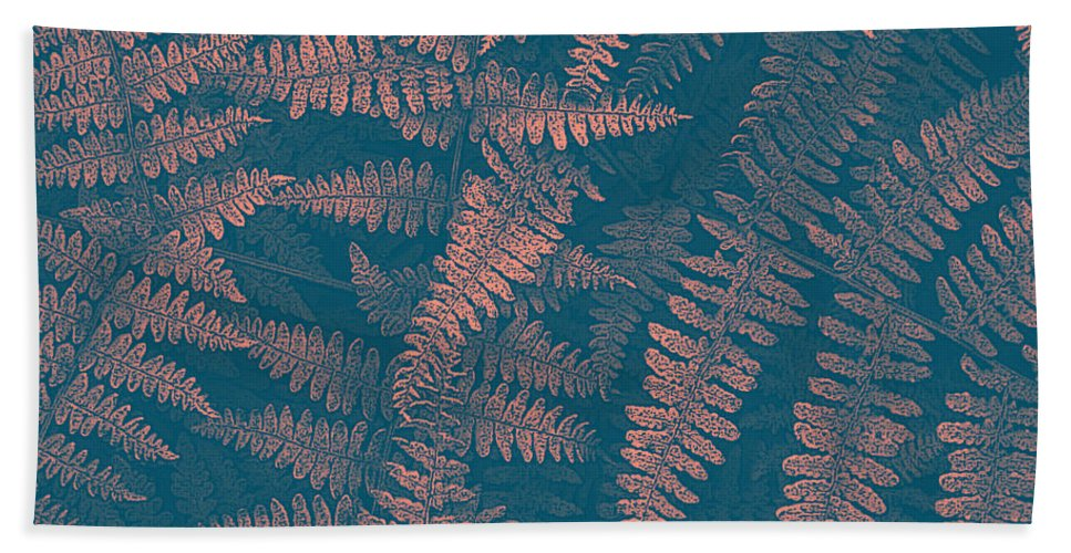 Ferns Hand Towel featuring the photograph Looking At Ferns Another Way by Mother Nature