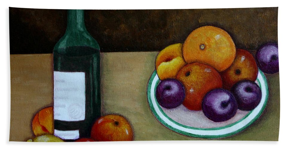 Looking For Cezanne Bath Sheet featuring the painting Looking For Cezanne by Madalena Lobao-Tello