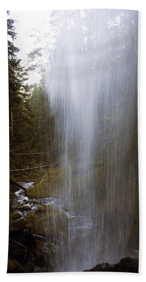 Angel Falls Bath Sheet featuring the photograph Looking Through Angel Falls by Edward Hawkins II