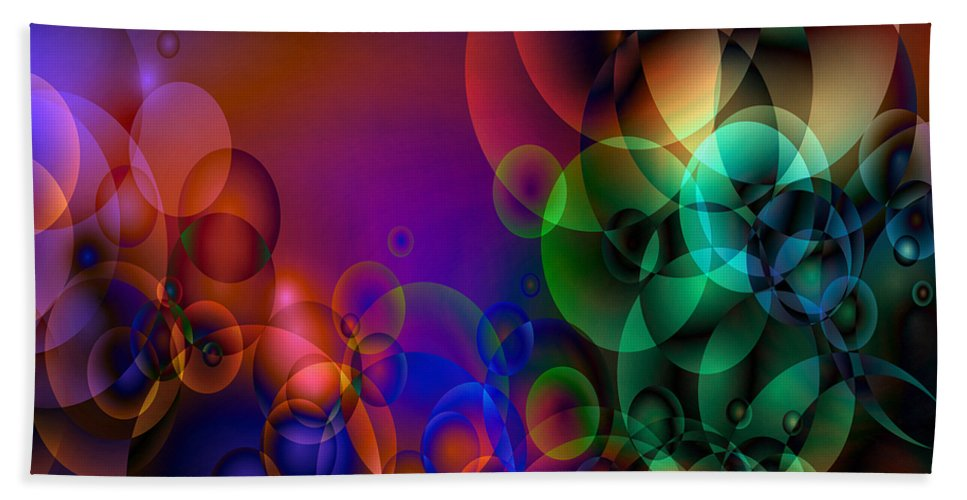 Abstract Bath Sheet featuring the digital art Lost 1 by Angelina Vick