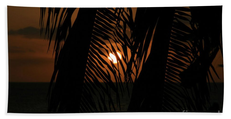 Aloha Hand Towel featuring the photograph Lost And Found In Sunset Land by Sharon Mau