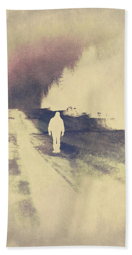 Hitch Hiker Bath Sheet featuring the photograph Lost Hitch Hiker by The Artist Project