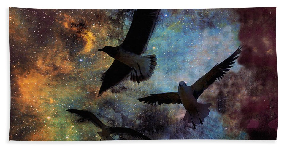 Fine Art Print Hand Towel featuring the photograph Lost in Space by Patricia Griffin Brett