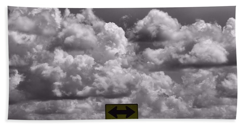 Cumulus Clouds Hand Towel featuring the photograph Lost In The Storm by Dan Sproul
