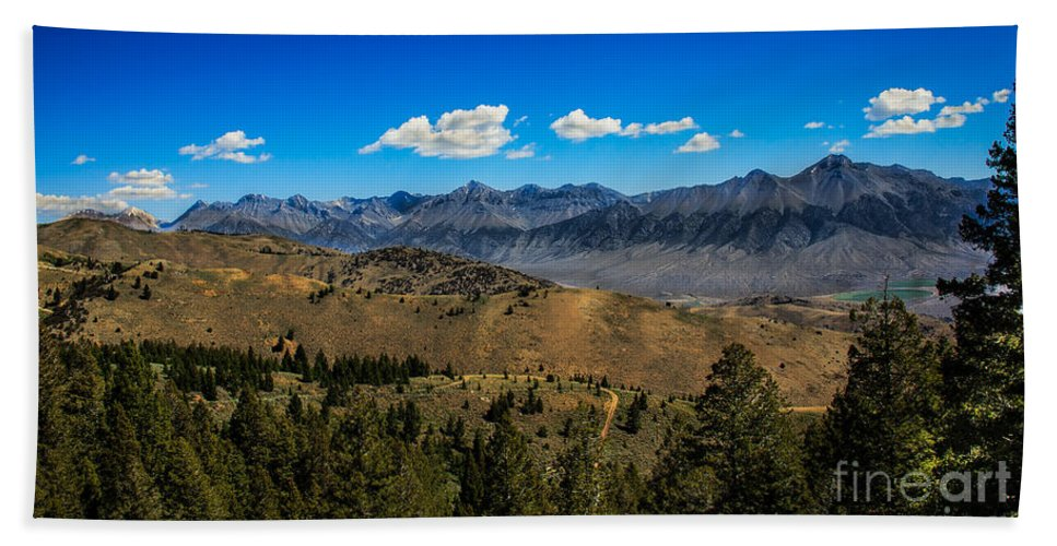 Lost River Bath Sheet featuring the photograph Lost River Mountains by Robert Bales