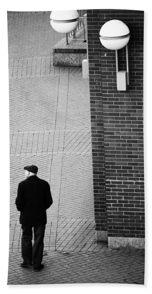 Street Photography Hand Towel featuring the photograph Lost Son by The Artist Project