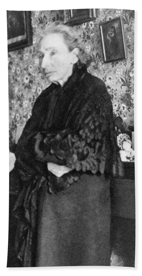 19th Century Bath Sheet featuring the photograph Louise Michel (1830-1905) by Granger