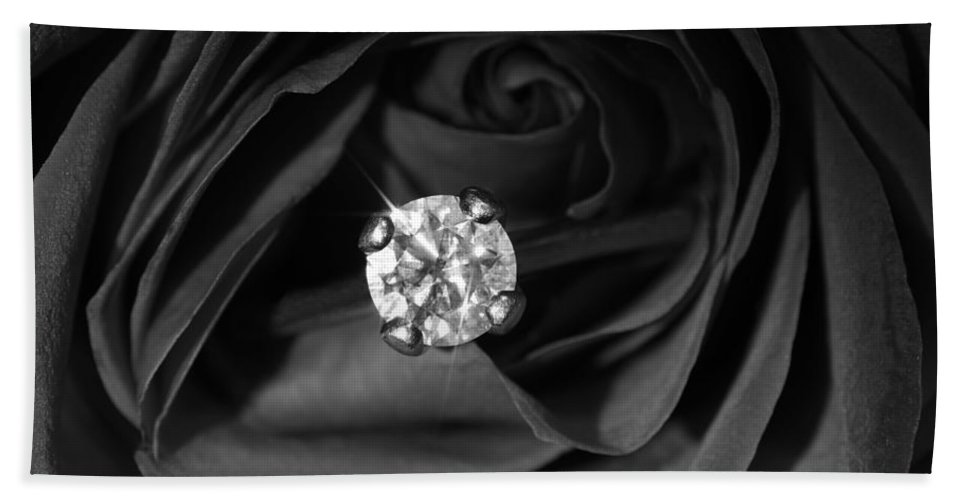 Diamond Ring Hand Towel featuring the photograph Love And Beauty by Luke Moore
