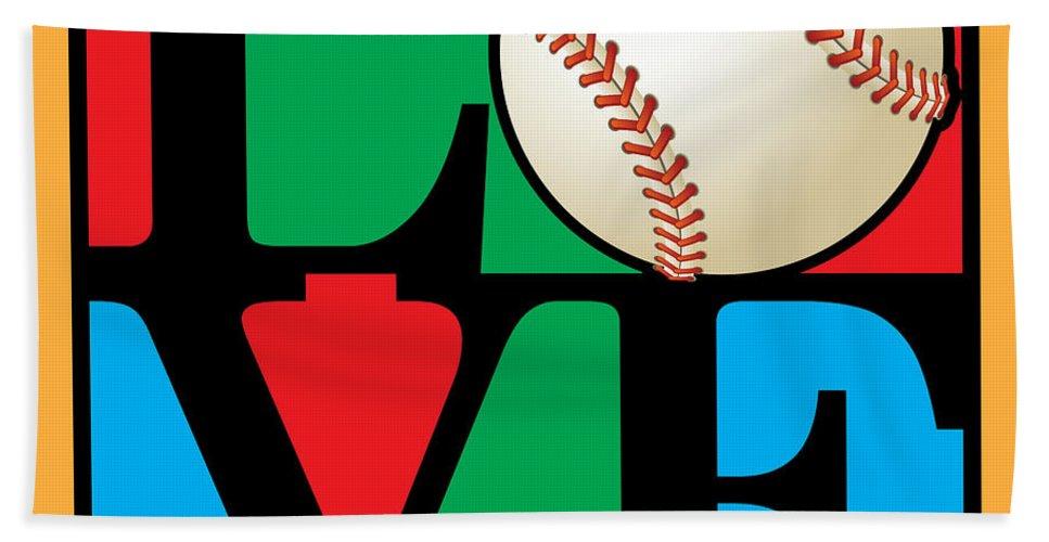 Vector Bath Sheet featuring the digital art Love Baseball by Gary Grayson