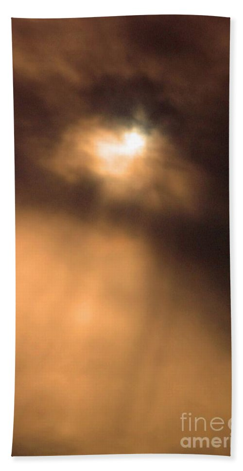 Clouds Hand Towel featuring the photograph Love From Above by Stephanie Hanson