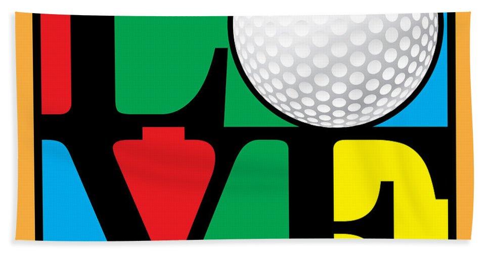 Vector Bath Sheet featuring the digital art Love Golf by Gary Grayson