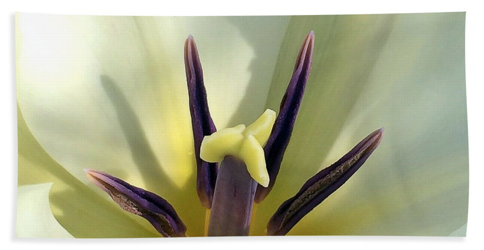 Macro Hand Towel featuring the photograph Love Grows Within by Kerri Farley