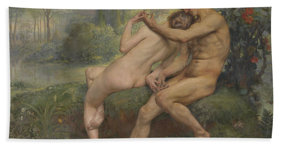 Love Hymn Hand Towel featuring the painting Love Hymn by Auguste Leveque