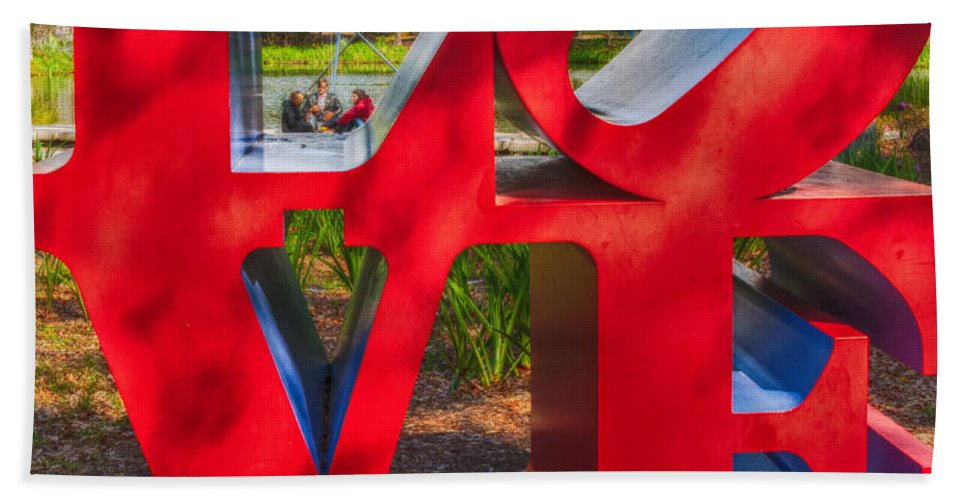 Love Hand Towel featuring the photograph Love In City Park New Orleans by Kathleen K Parker