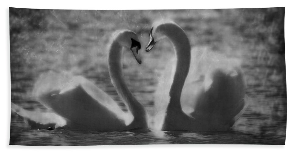 Festblues Bath Sheet featuring the photograph Love Is.. by Nina Stavlund