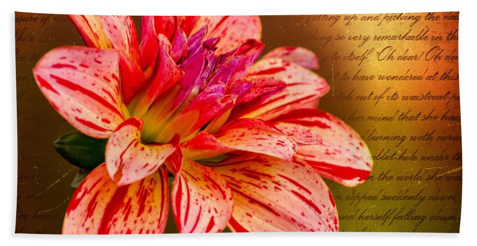 Flower Bath Sheet featuring the photograph Love Letter To Dahlia by Jordan Blackstone