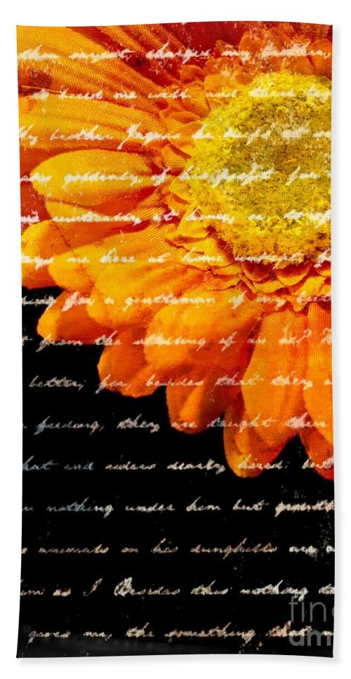 Flower Bath Towel featuring the photograph Love Letters by Edward Fielding
