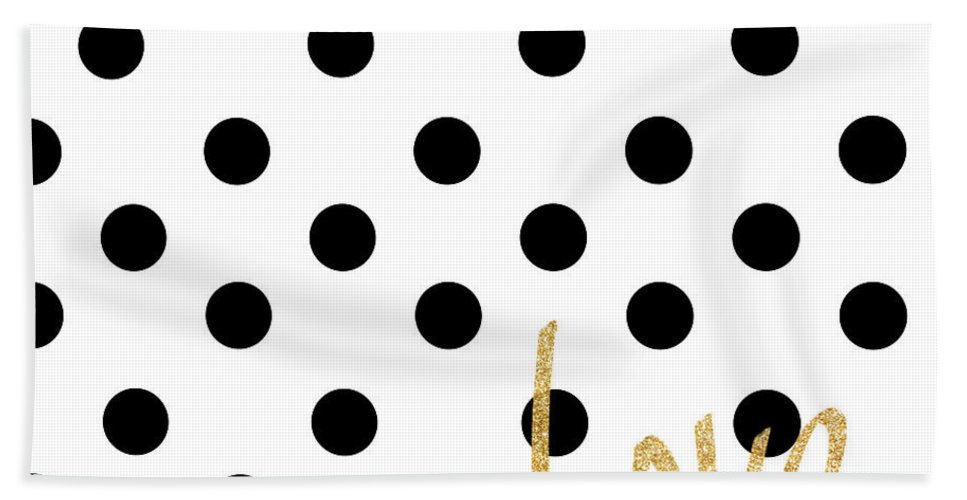 Love Bath Towel featuring the digital art Love With Dots by South Social Studio