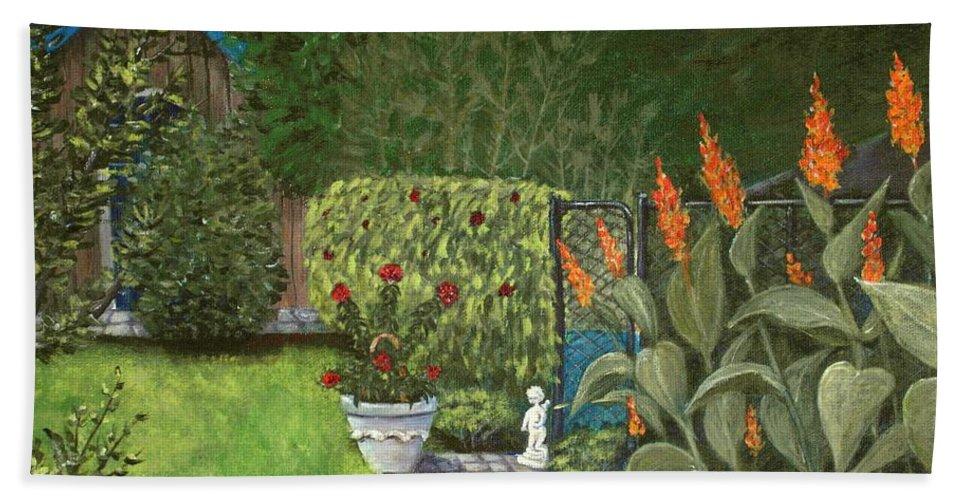 Interior Hand Towel featuring the painting Lovely Green by Anastasiya Malakhova
