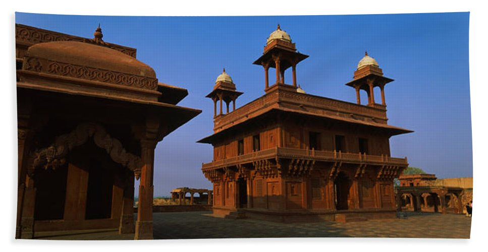 Photography Bath Towel featuring the photograph Low Angle View Of A Building, Fatehpur by Panoramic Images