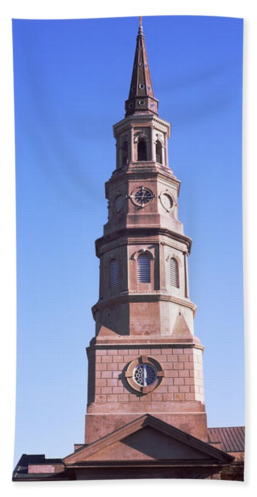 Photography Hand Towel featuring the photograph Low Angle View Of A Church, St. Philips by Panoramic Images