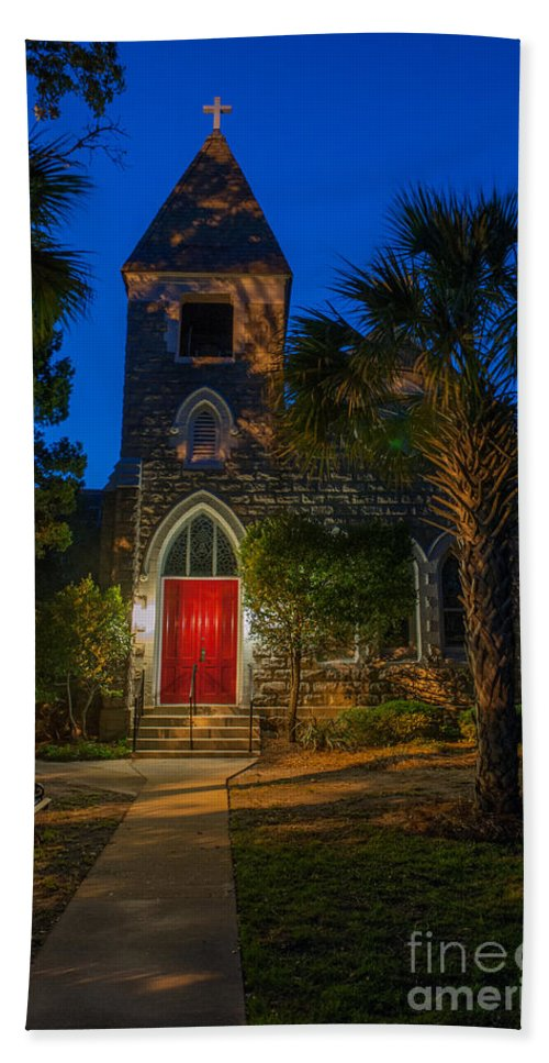 Lowcountry Bath Sheet featuring the photograph Lowcountry Church by Dale Powell