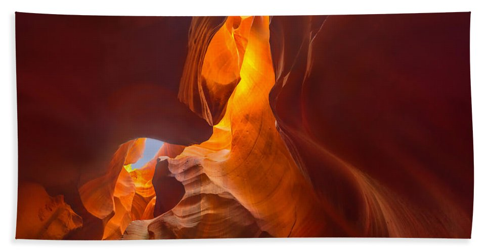 5 Canyons Hand Towel featuring the photograph Lower Antelope Canyon by Angela Stanton