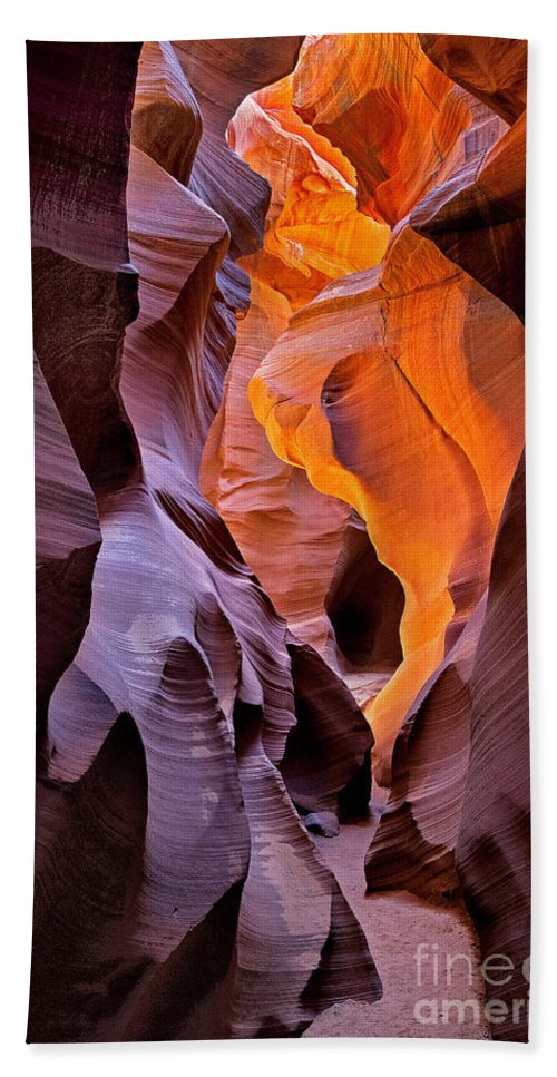 Arizona Hand Towel featuring the photograph Lower Antelope Glow by Jerry Fornarotto