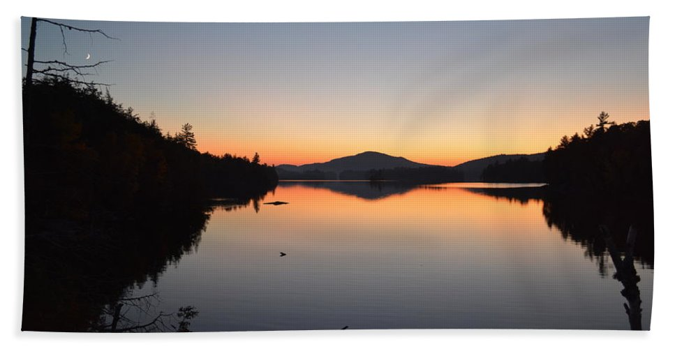 Sunset Bath Sheet featuring the photograph Lower Saranac Lake by Thomas Phillips