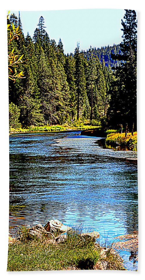 Rivers Bath Sheet featuring the photograph Lower Truckee River by Lynn Bawden