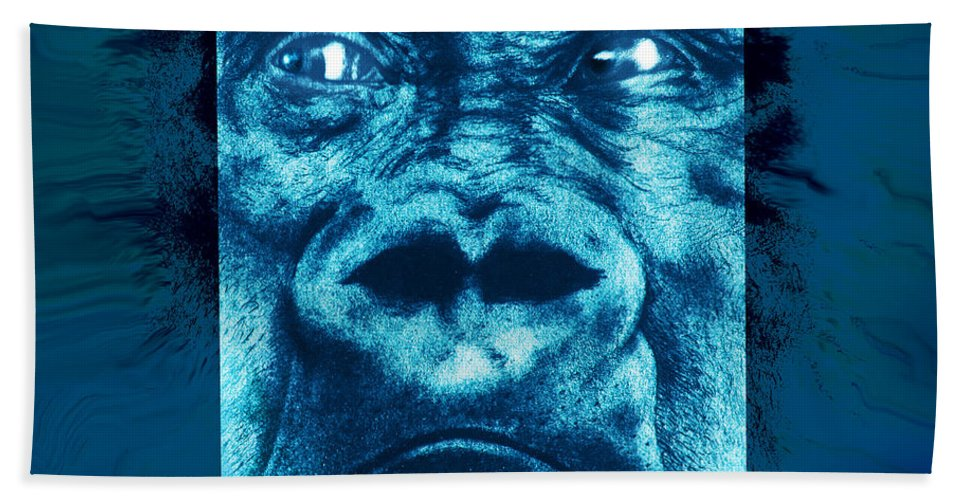 Gorilla Bath Sheet featuring the digital art Lowland Gorilla by Christopher Korte