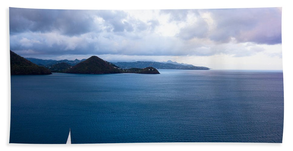 Landscape Bath Sheet featuring the photograph Lucian Blues by Ferry Zievinger