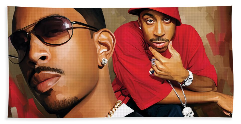 Ludacris Paintings Hand Towel featuring the painting Ludacris Artwork by Sheraz A