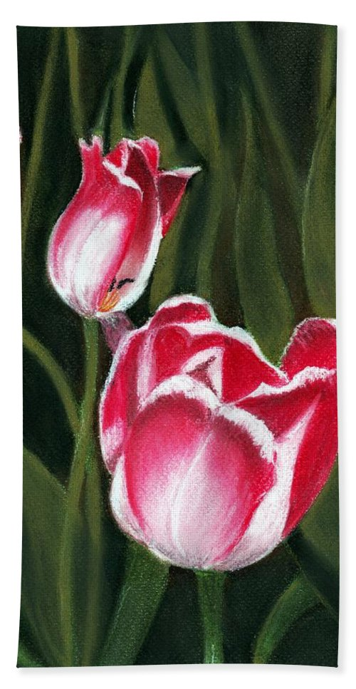 Plant Hand Towel featuring the painting Luminous by Anastasiya Malakhova