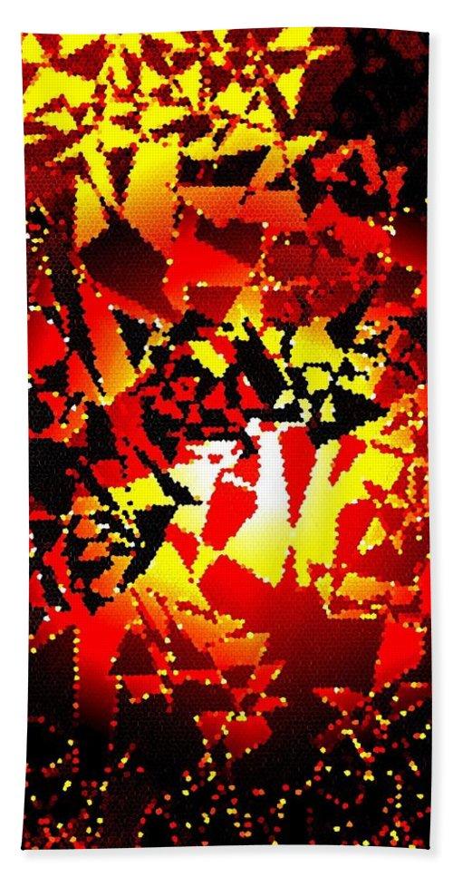 Luminous Energy 24 Bath Sheet featuring the digital art Luminous Energy 24 by Will Borden