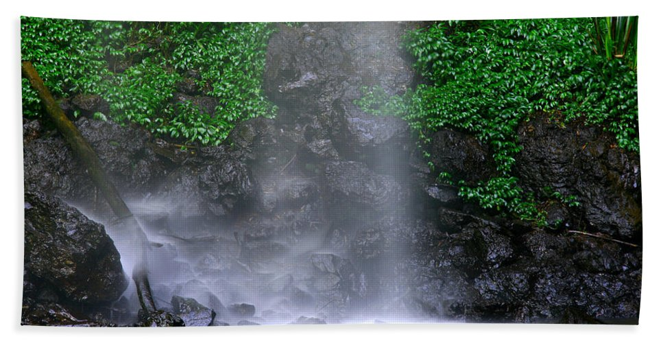 Pool Bath Sheet featuring the photograph Luminous Falls by Darren Burton