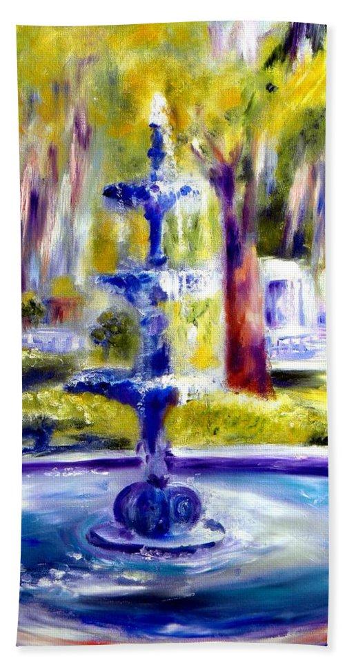 Savannah Bath Sheet featuring the painting Luv by Sandy Ryan