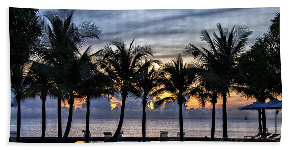 Accommodation Hand Towel featuring the photograph Luxury Infinity Pool At Sunset by Sophie McAulay