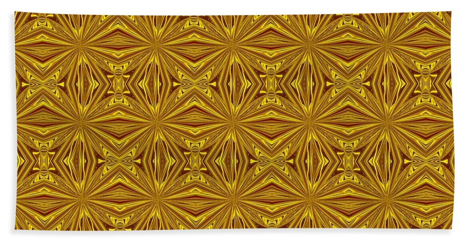 Christmas Bath Sheet featuring the digital art Luxury Red And Gold Foil Christmas Pattern by Taiche Acrylic Art