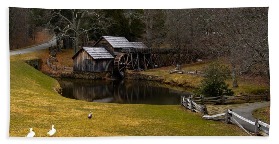 Bath Sheet featuring the photograph Mabry Mill by Jason Anderson