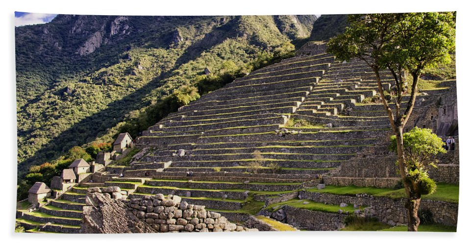 Macchu Picchu Bath Sheet featuring the photograph Macchu Picchu - Peru  by Jon Berghoff