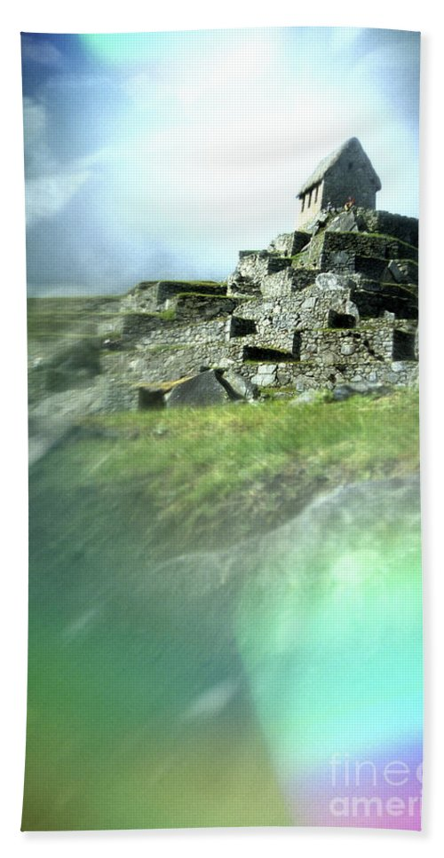 Machu Picchu Bath Sheet featuring the photograph Machu Picchu Reflection by Ryan Fox