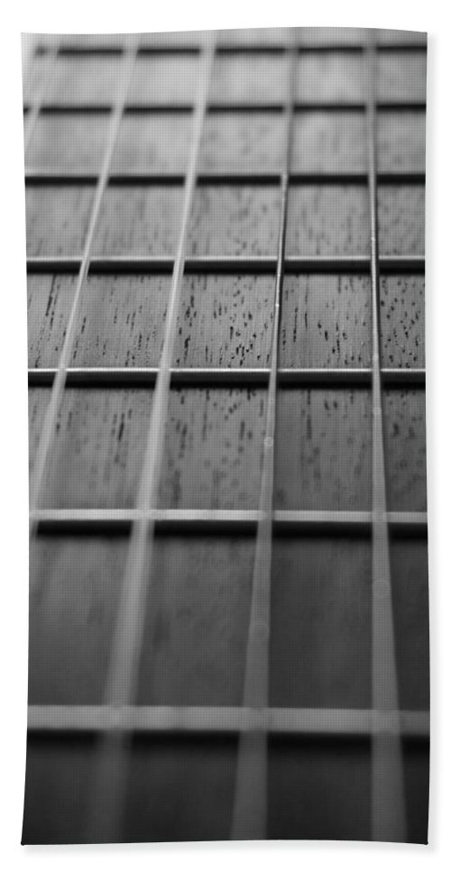 Digital Photograph Bath Sheet featuring the photograph Macro Guitar Strings by Laurie Pike